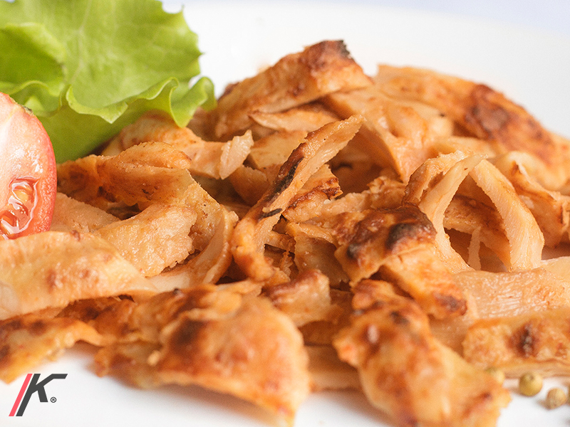 Chicken Kebab meat and salad