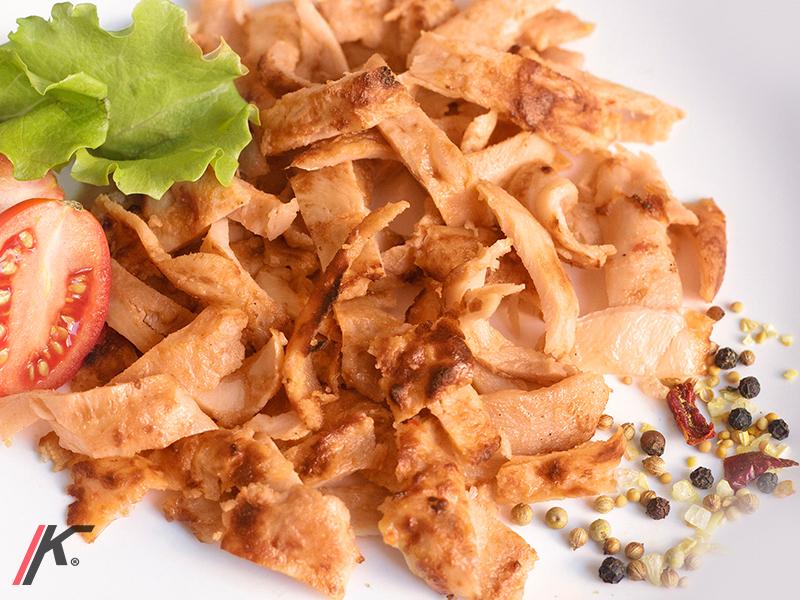 gyros meat, salad