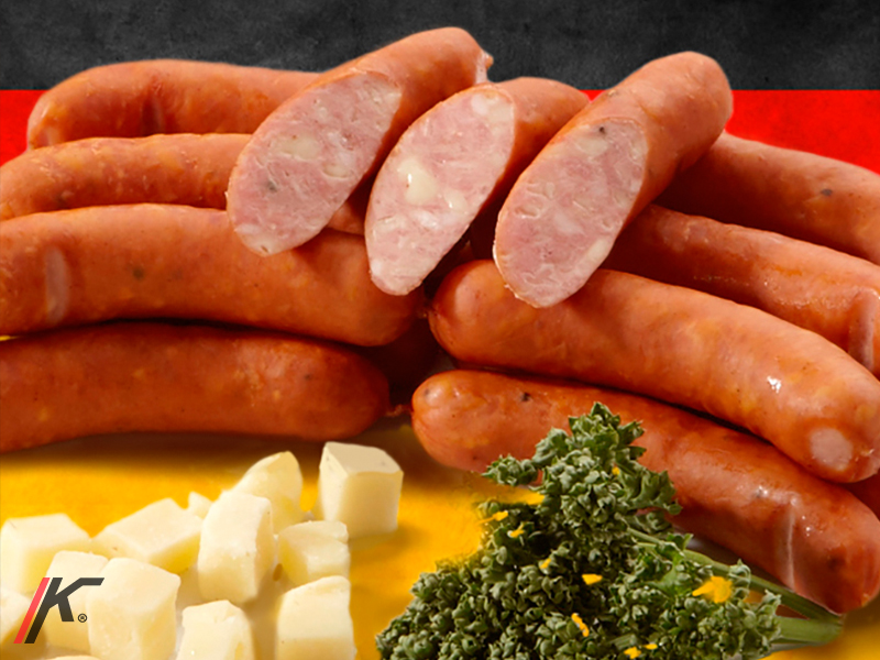 Käsekreiner sausages and cheese